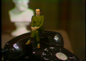 """Dr. Charles Monson, Jr. uses special video effects to illustrate his philosophy lesson in """"Seeing Is Believing,"""" February 5, 1974"""