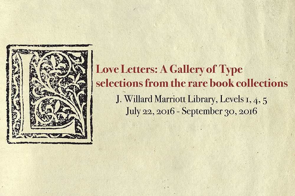 rare books exhibition love letters a gallery of type