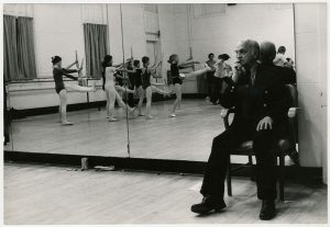 """Mr. C"" watches the Soldiers rehearse"