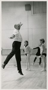 """Mr. C"" demonstrating to young dancers"