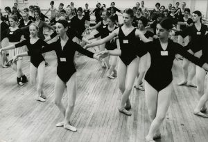 Young dancers at the auditions for the Nutcracker cast