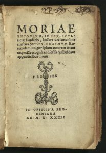Title page of 1532 Froben edition.