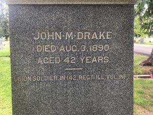 John M Drake Headstone, Provo City Cemetery