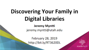Discovering Your Family in Digital Libraries