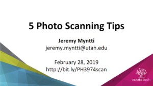 5 Photo Scanning Tips