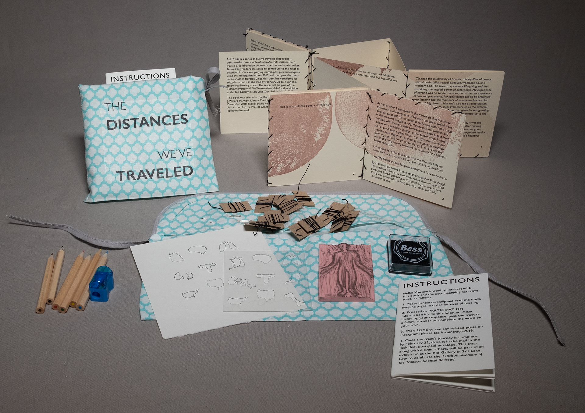 """A photo of the book """"The Distances We've Traveled"""" by Marnie Powers-Torrey"""