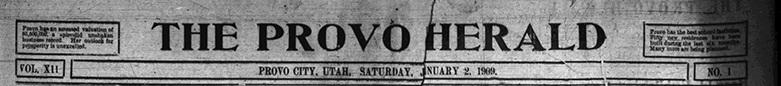 1909 Provo Herald nameplate