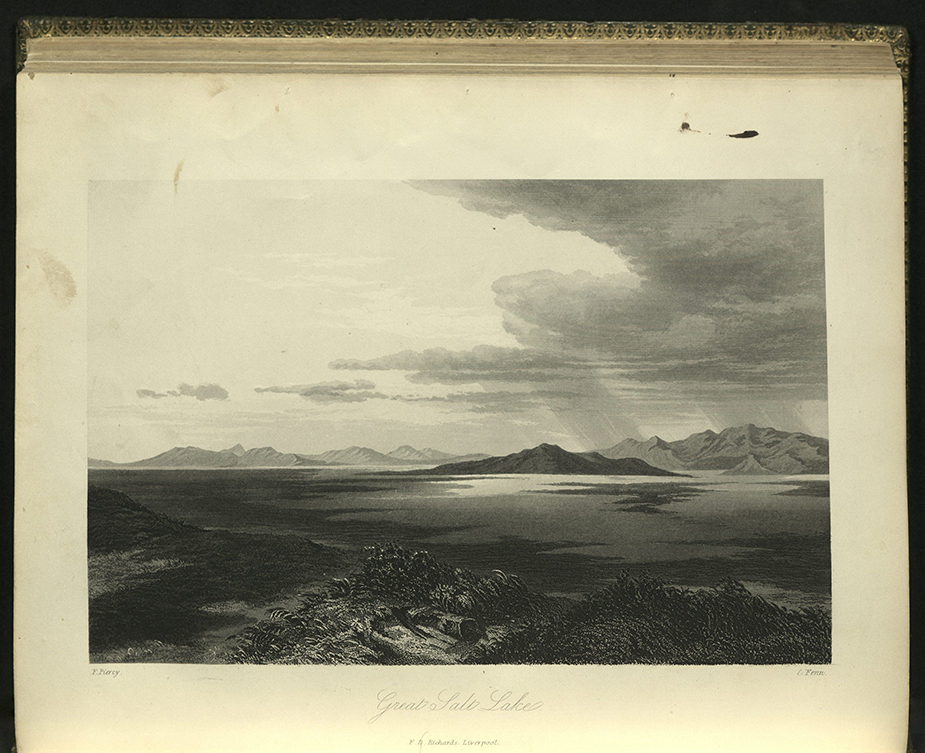 """Great Salt Lake"" from Frederick Piercy's Route to Liverpool..., 1855"