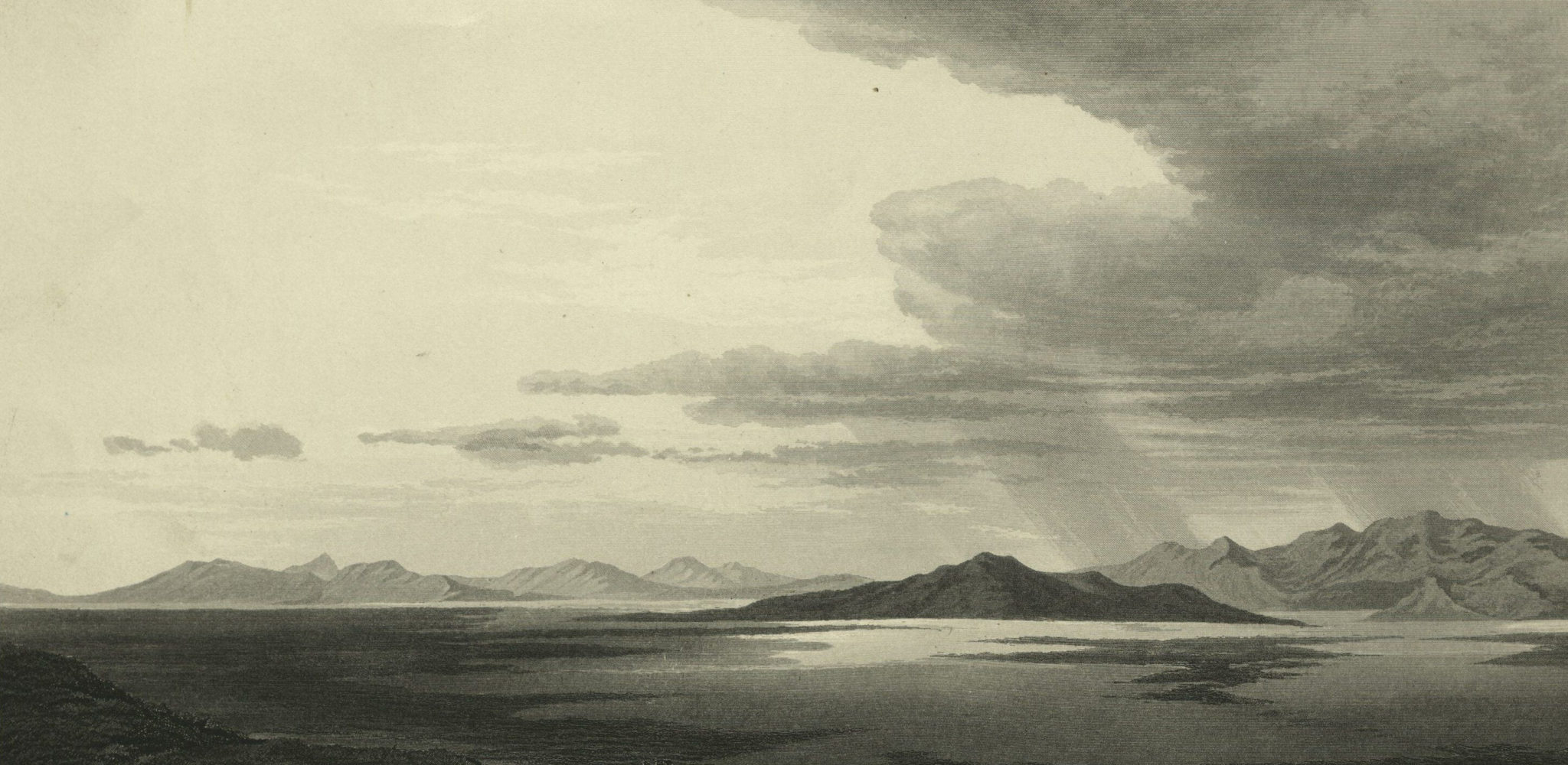 image of mountains in Great Salt Lake from Frederick Piercy, Route from Liverpool...,1855