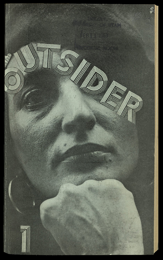 Cover of The Outsider, volume 1. Featuring a portrait of Gypsy Lou Webb