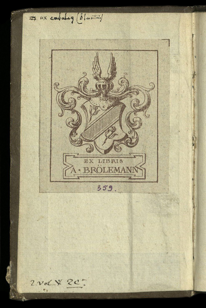 front board pastedown with book plate