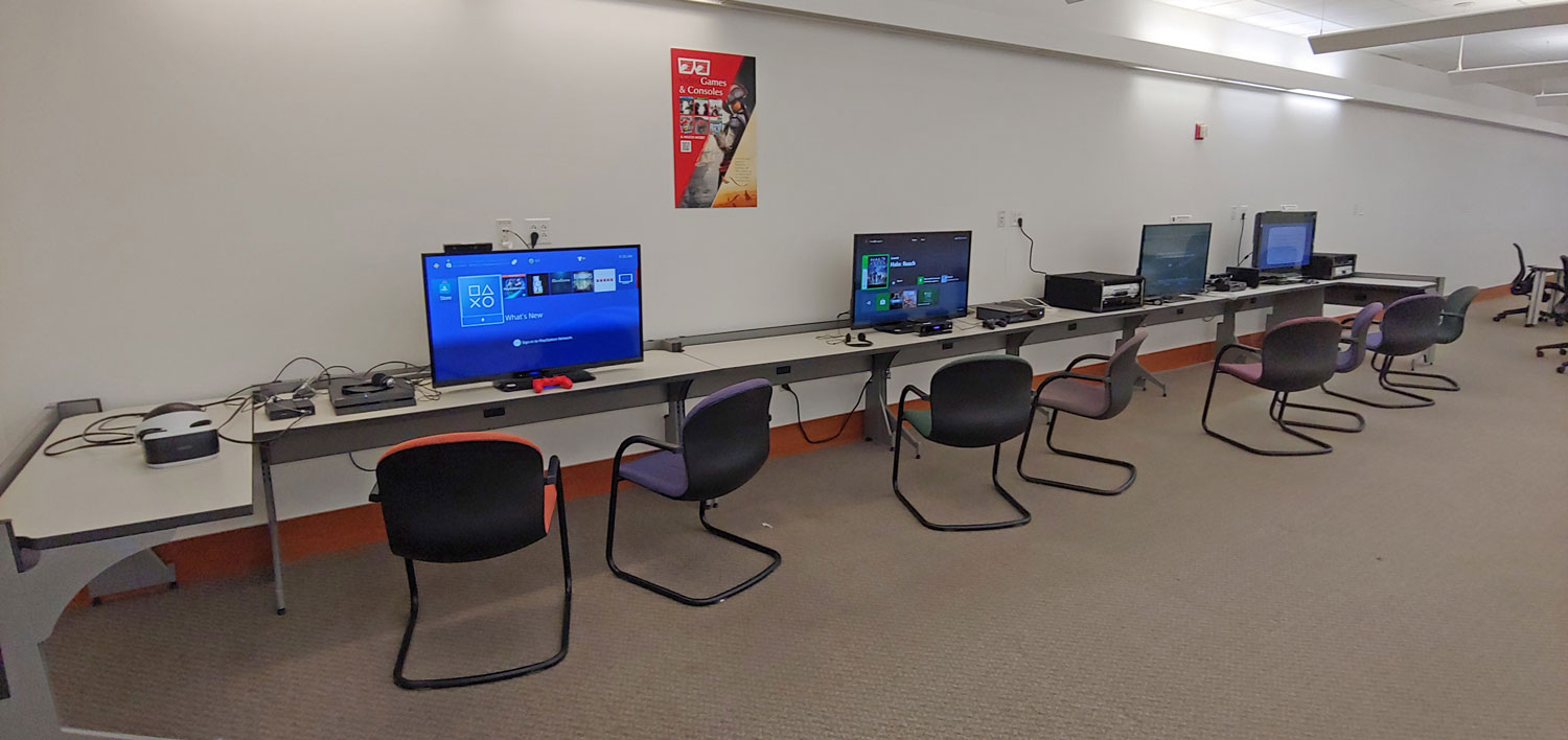 Media and Viewing Stations now located on the west wall of ProtoSpace (Level 2).