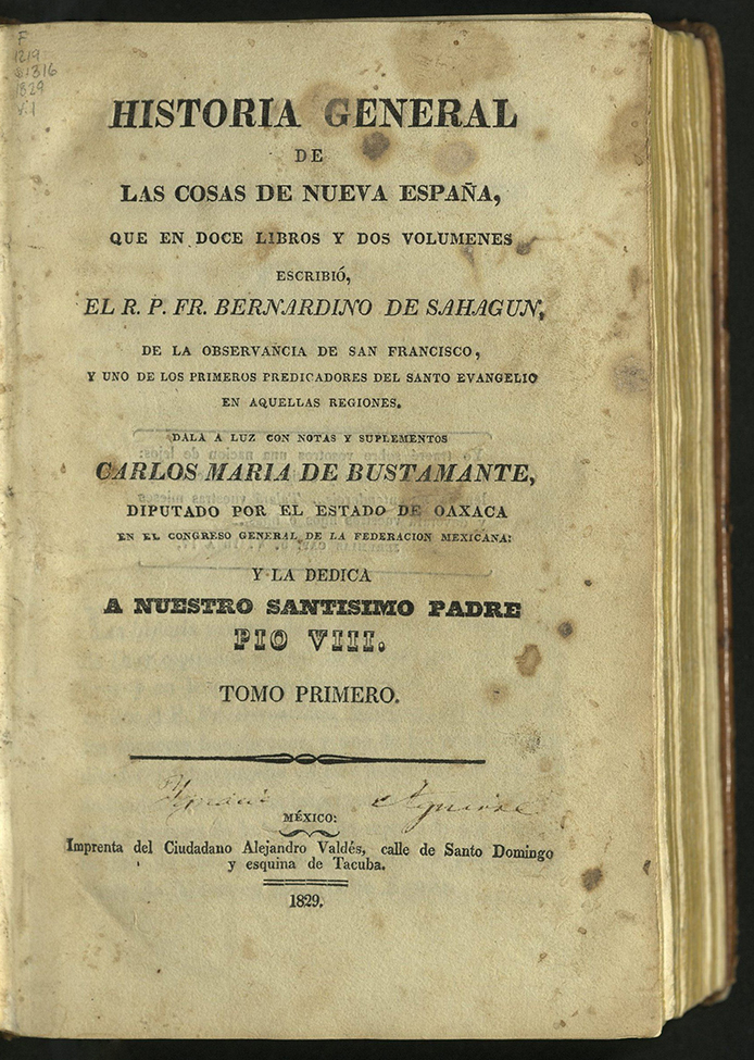 Title-page including faint signature of former owner between dingbat and publisher information