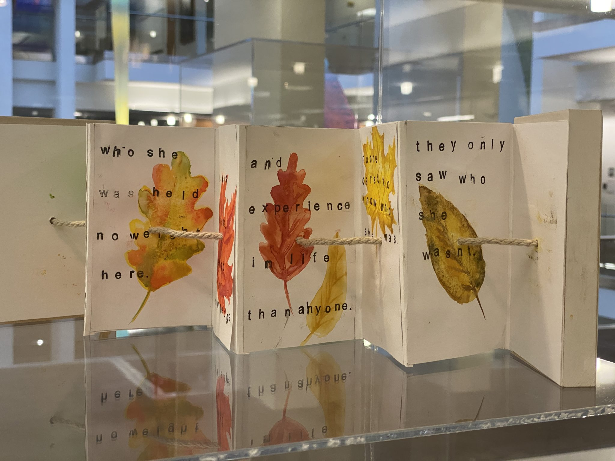 Decorative pages on display