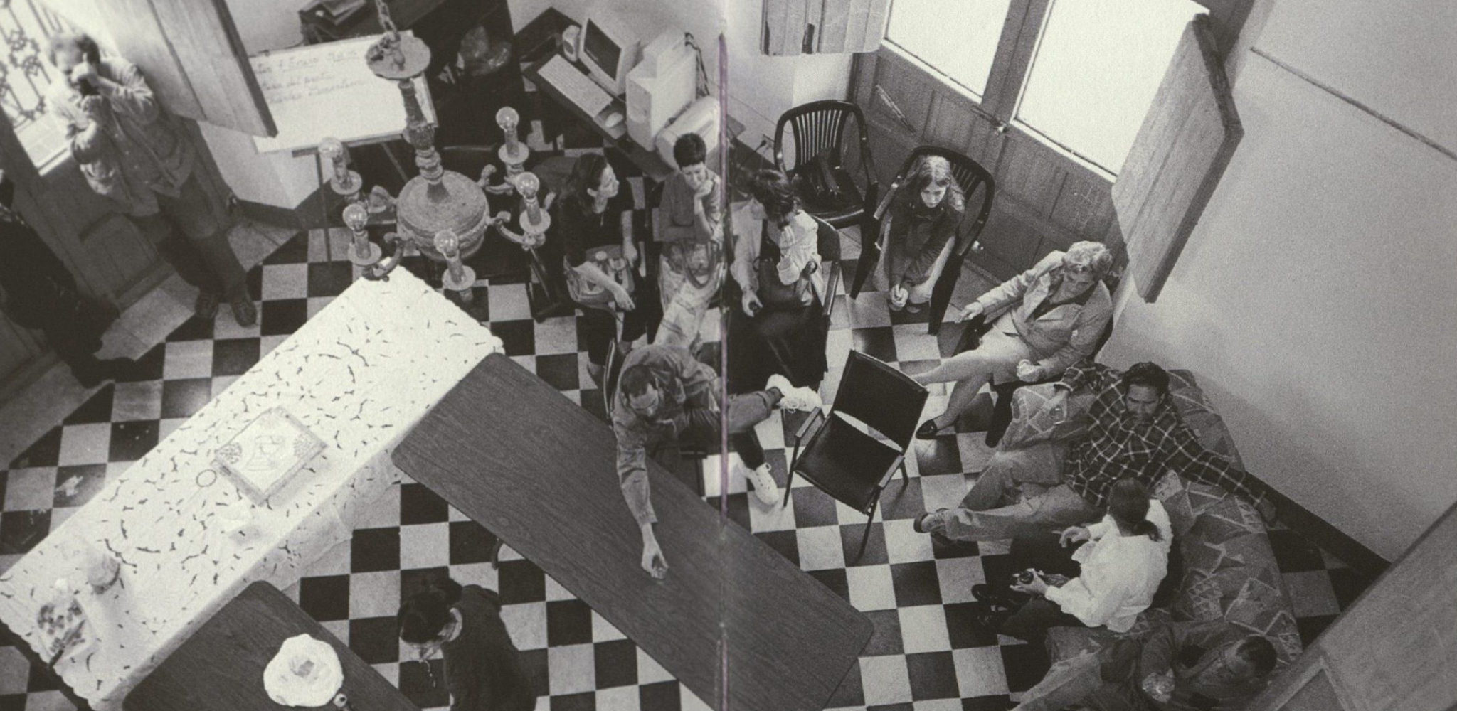 group of people surrounding table