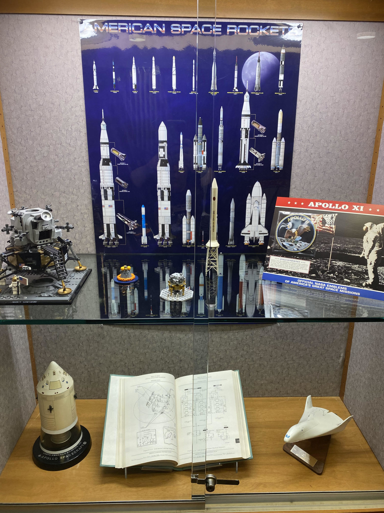 display of book with text and model space objects