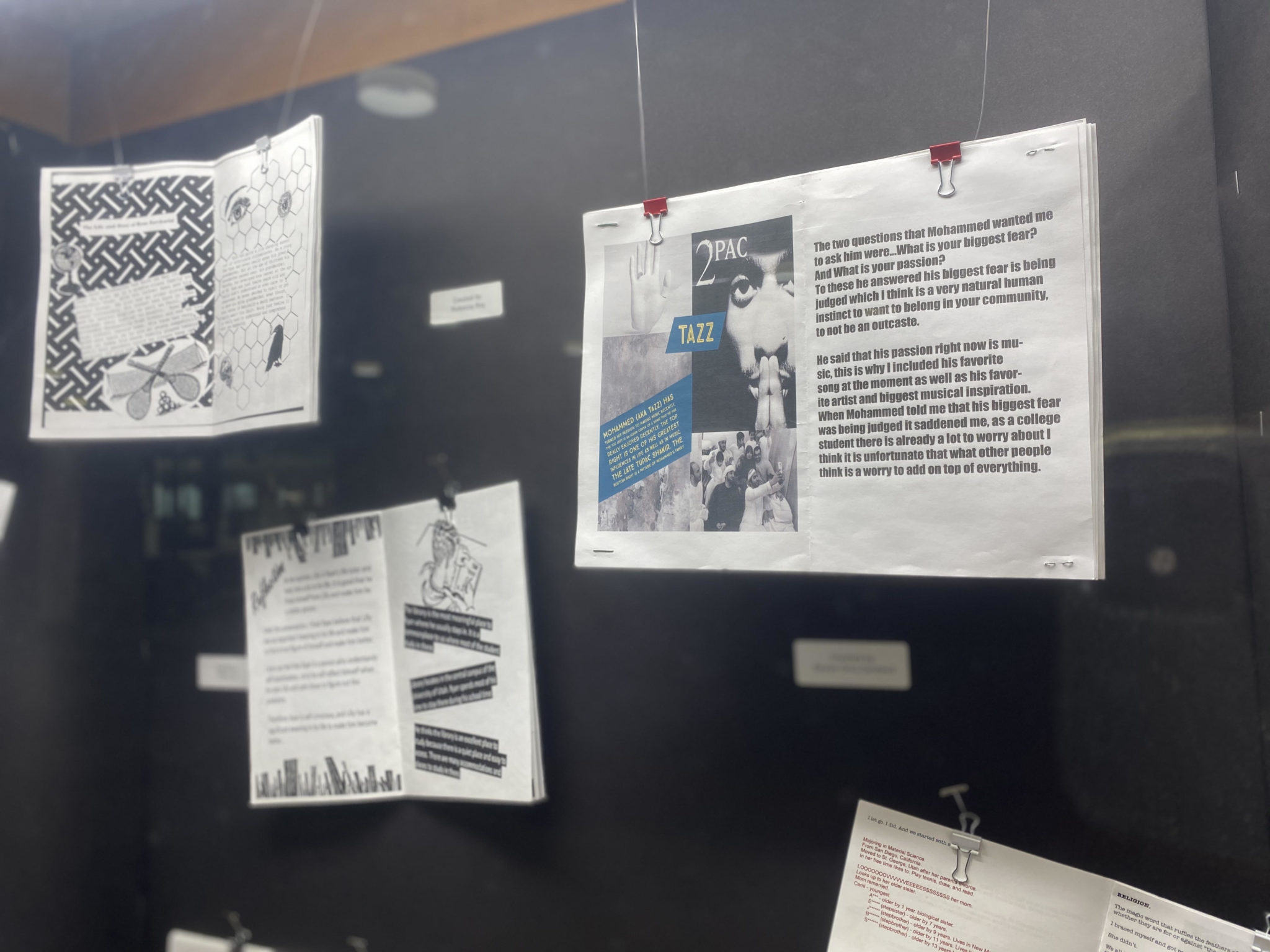 Display Case with student art