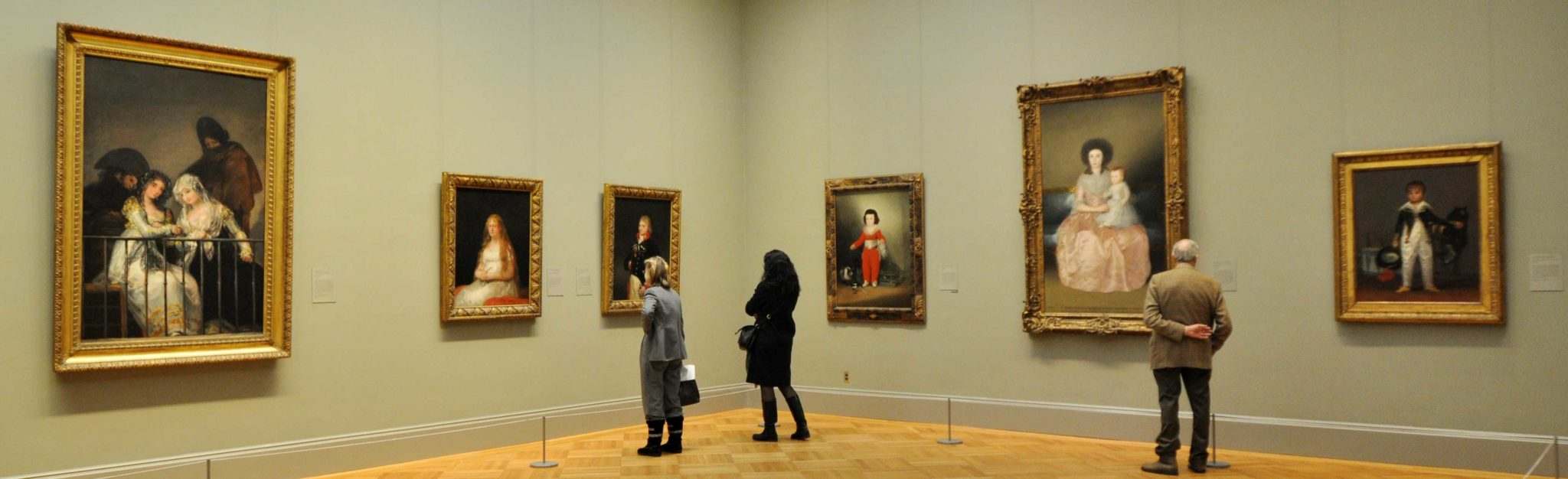 Gallery of European paintings at the Metropoliatan Museum of Art in New York City.