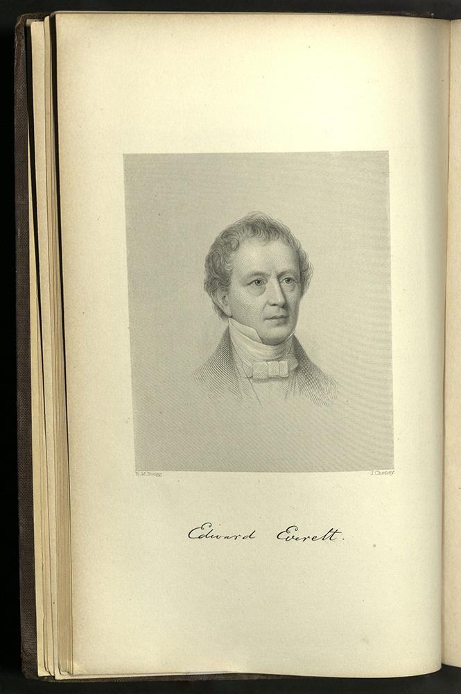 Engraved portrait of Everett