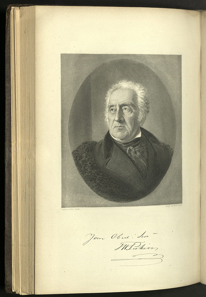 engraved portrait of Perkins