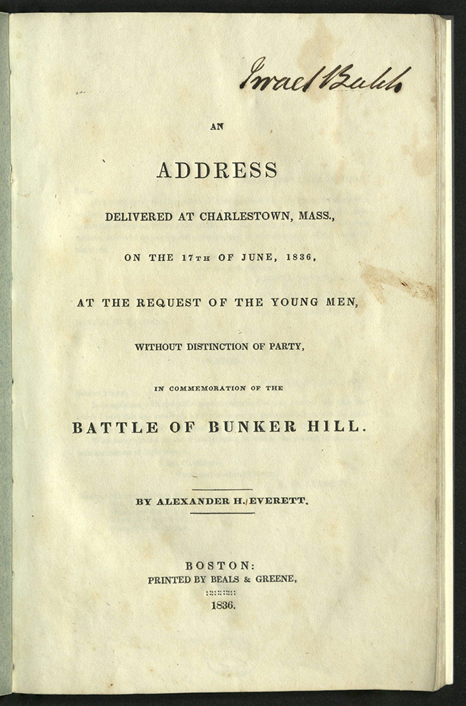 title-page for An Address delivered at Charleston...