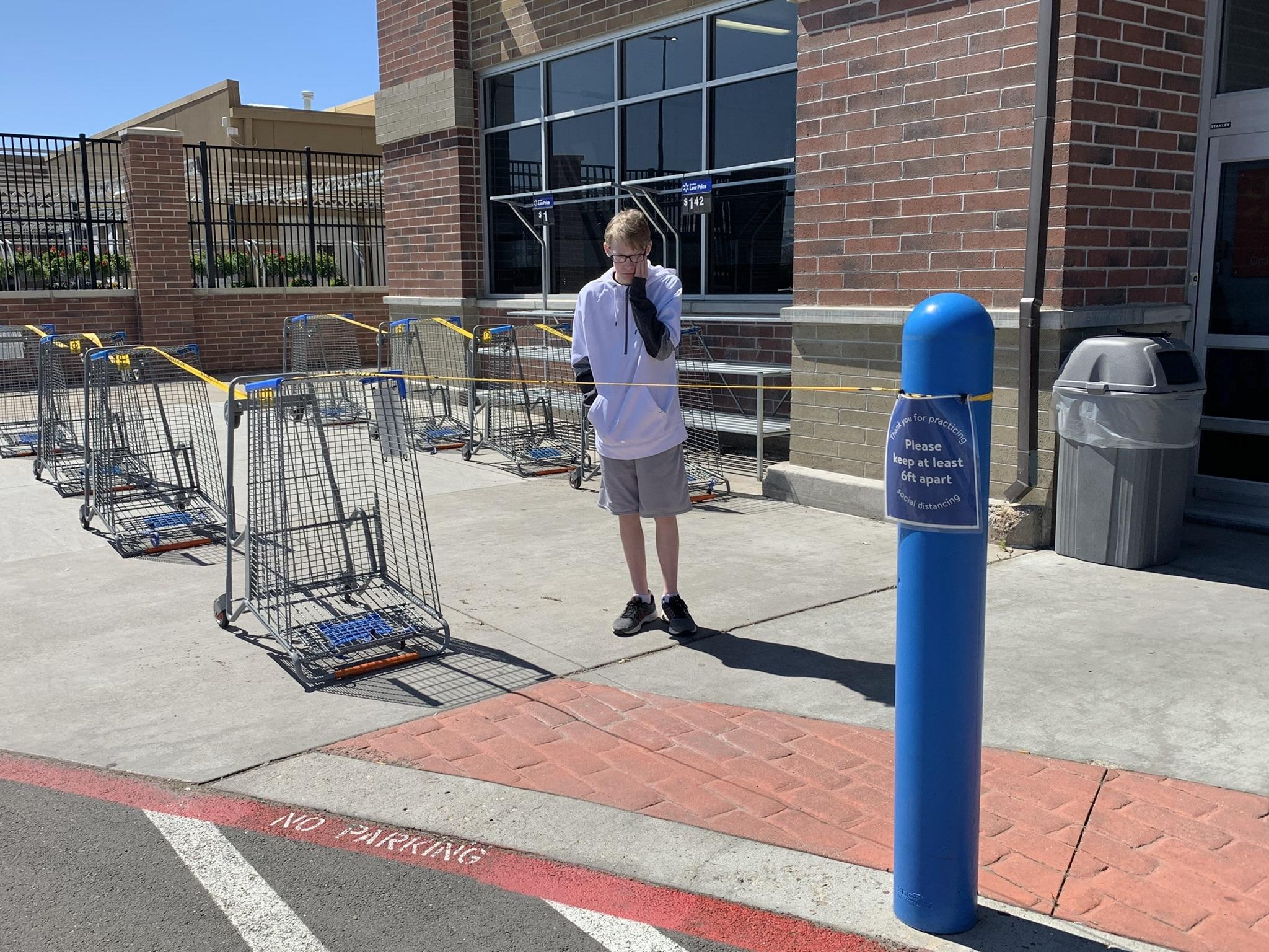 Entrance lines at Walmart
