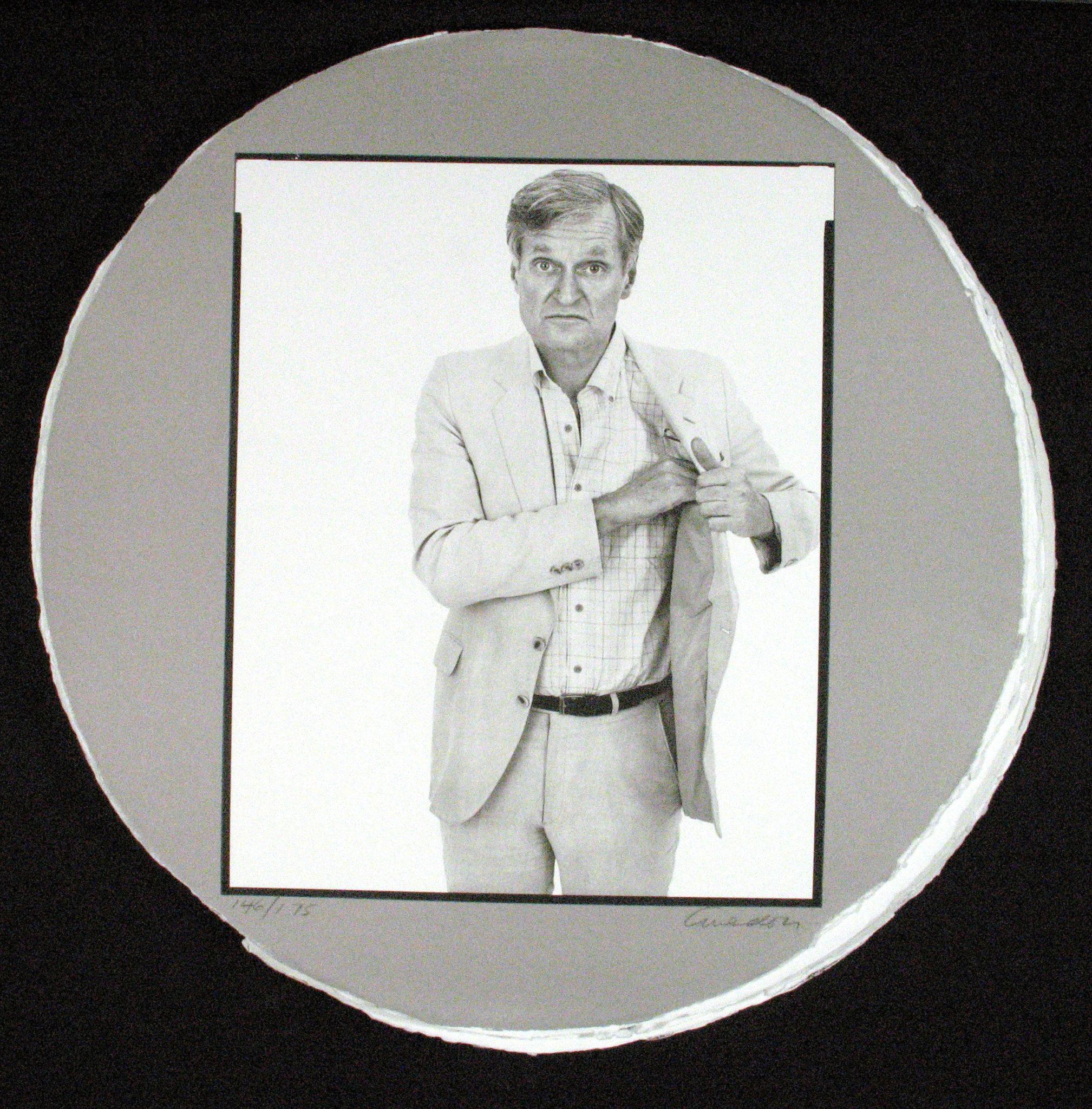 Richard Avedon portrait of John Ashbery