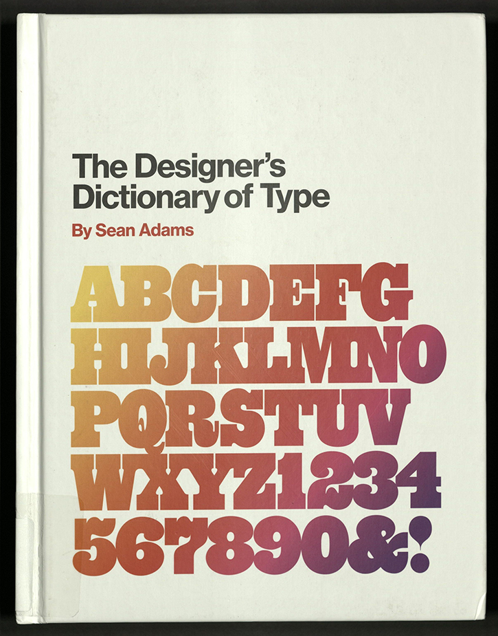 front board (cover) of Designer's Dictionary of Type