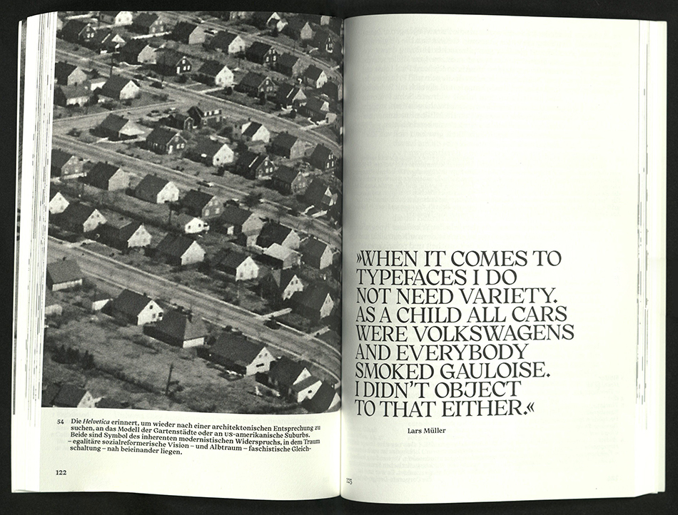 spread with full-page photograph on left, text on right