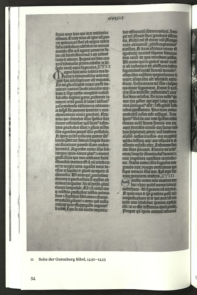 reproduction of Gutenberg leaf