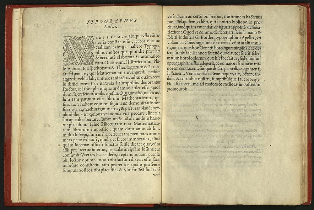 Typographus Lectori spread