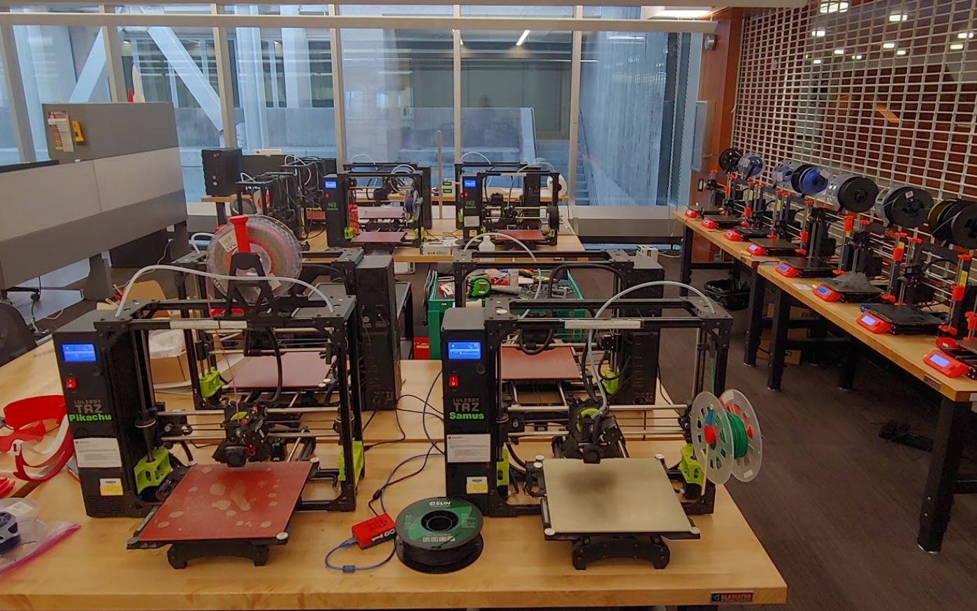 Image depicting the new 3D printer set-up / process during the Coronavirus pandemic
