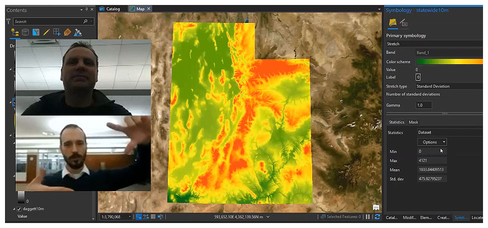 Image of a virtual GIS Consultation in action conducted through Zoom.