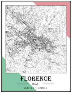 An example of GIS as Art representing Florence, Italy.
