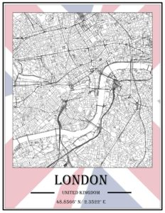 An example of GIS as Art representing London.