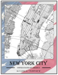 An example of GIS as Art representing New York City.