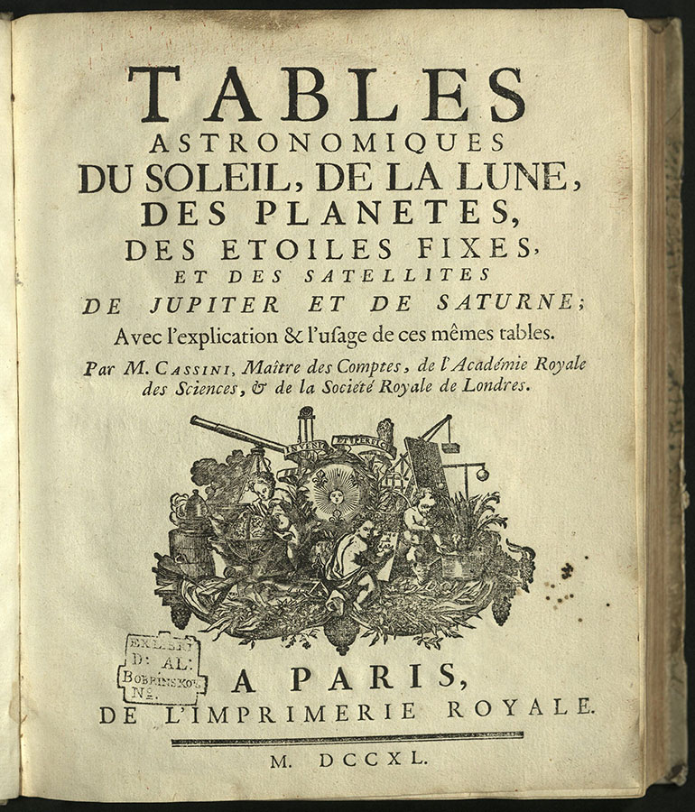 title page for Tables