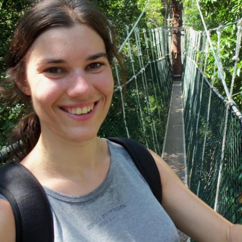 shawnakim on a rope bridge
