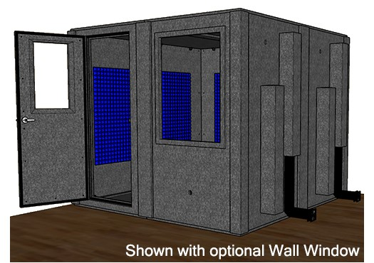 A drawing depicting the new podcast recording booth to be installed at the Marriott Library.
