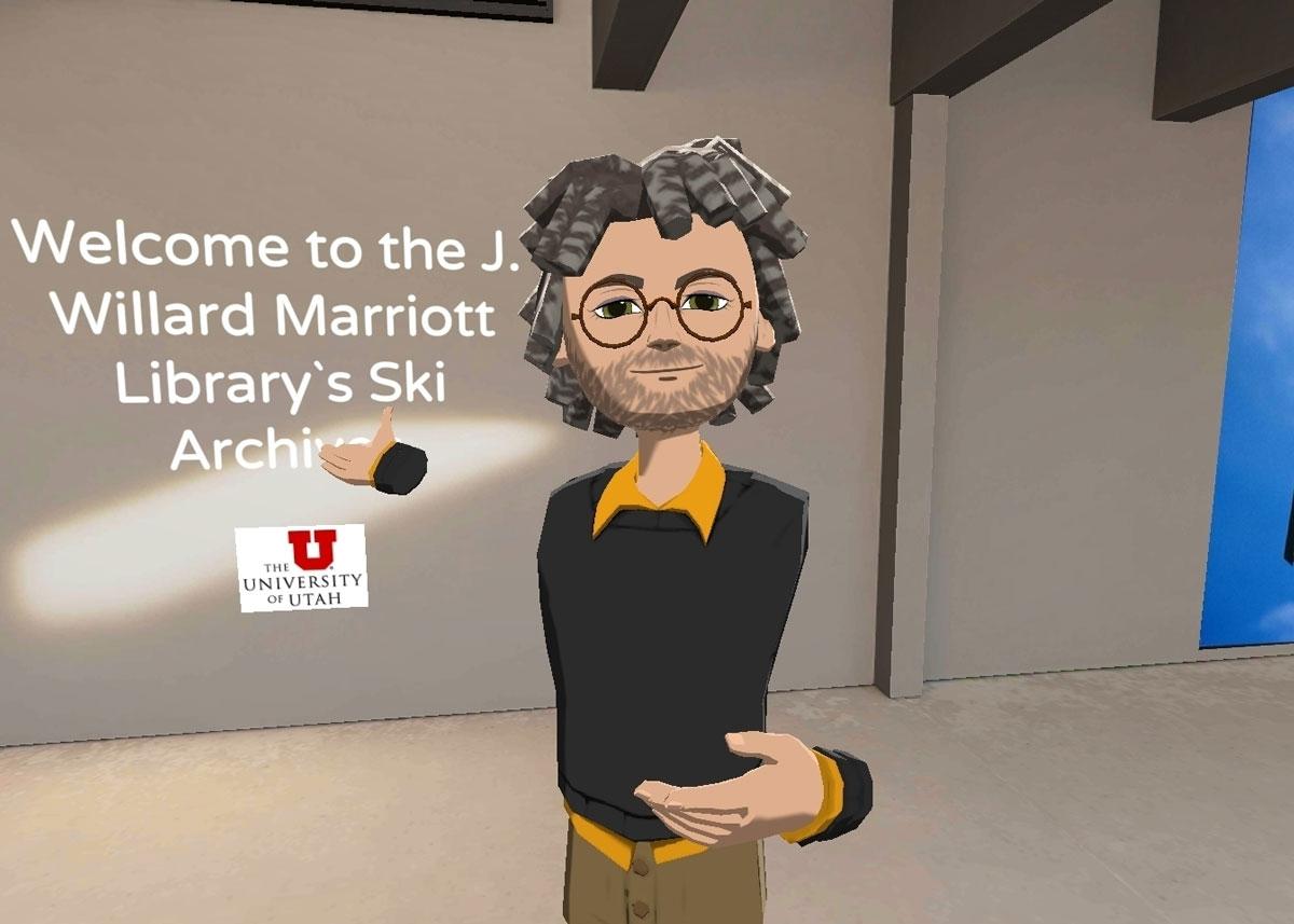 A virtual representation of Tony Sams, New Media Specialist at the J. Willard Marriott Library.