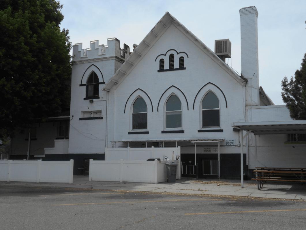 Murray's historic 2nd Ward meetinghouse, now a rehabilitation center.