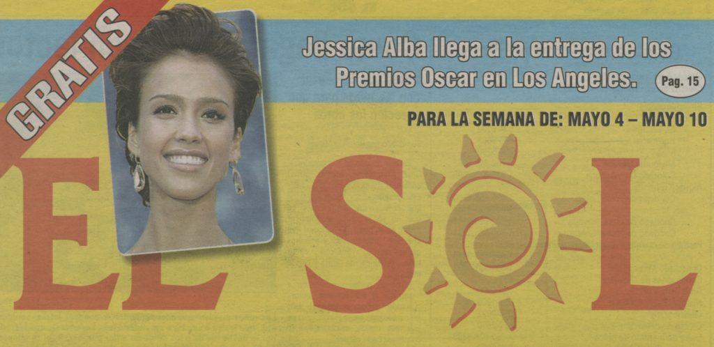Nameplate for El Sol newspaper