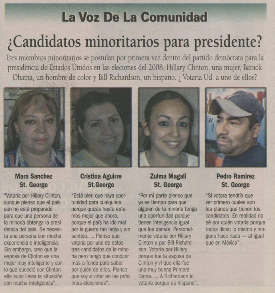 Voice of the Community article from El Sol