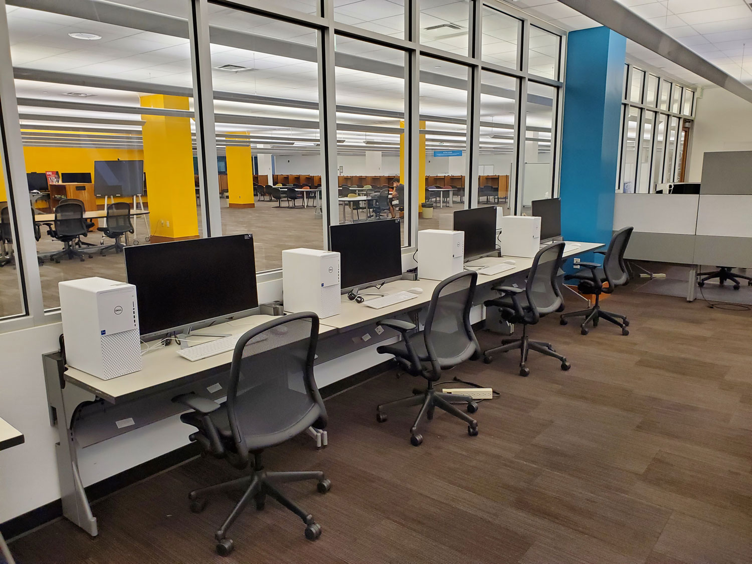 Image of high-performance computers designed for data computational analysis available at the Marriott Library.